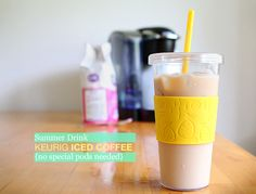 How to make delicious iced coffe with any Keurig - no speciality k-cups required  Now all I need to do is buy a Keurig maker!!