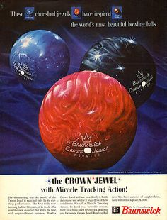 f4da3f5755 1962 Brunswick CROWN JEWEL with Miracle Tracking Action Advertisment Bowling  Equipment