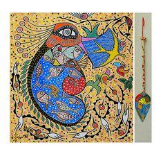 """AMAZÔNIA LEGAL EM FOCO : Indígena Macuxi vence a maior premiação de Arte Contemporânea  """"Pata Ewa'n – O coração do mundo"""", 2016, acrílica sobre tela, 230 x 250 cm"""