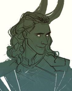 Marvel Fan Art, Loki Marvel, Loki Thor, Tom Hiddleston Loki, Loki Laufeyson, Marvel Comics, Avengers, Loki Drawing, Drawing Board