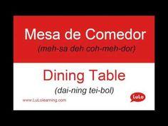 Mesa de Comedor en Inglés = Dining Table in Spanish