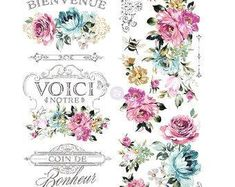 Rub On Transfers For Furniture Furniture Decals ReDesign Lavender Bush, Chest Of Draws, Rub On Transfers, Dixie Belle Paint, Hardware, Mineral Paint, Ruby Rose, Rose Gold, One Design