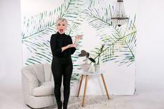 Mr. Kate - DIY Pool Noodle Stamped Palm Leaf Art