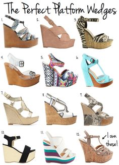 the latest a15d5 bbc8f Platform Wedges For Spring Under  100 - Poor Little It Girl Born Shoes,  Cute Wedges