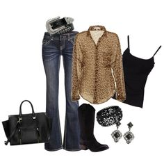 Minus those boots and that belt and purse... But I like the jeans and tops!