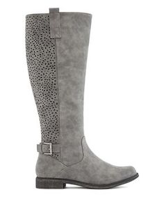 JustFab packs a lot of personality into their footwear. Shop pairs designed to express your individuality. Grey Shoes, Women's Shoes, Tall Boots, Riding Boots, Footwear, Pairs, Zip, Gray, Earthy