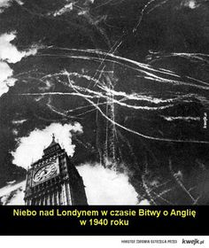 LONDON IN THE BLITZ This photograph shows the skies above Big Ben during a dogfight between the RAF and the Luftwaafe in the Battle of Britain. Judging by the smoke billowing up from the city, London had just been bombed. Rare Historical Photos, Rare Photos, Old Photos, Vintage Photos, World History, World War Ii, Ww2 History, London History, Tudor History