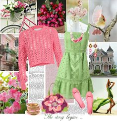 """Pink and Green"" by tacciani on Polyvore"