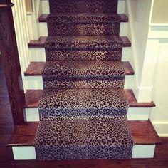 Best Leopard Animal Print Stair Runner Stair Runners 400 x 300