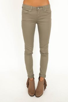 Dusty Green Skinny - Dottie Couture Boutique