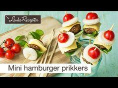 Video: mini hamburger prikkers Recept koken met kinderen