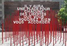 The Outdoor Advert titled Aires libres – Amherst Park Anamorphic Installation was done by Paprika advertising agency for product: Aires Libres (brand: SDC du Village) in Canada. Wayfinding Signage, Signage Design, Park Signage, Environmental Graphics, Environmental Design, Rue Sainte Catherine, Art Public, Outdoor Signage, Entrance Sign