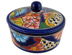 Corn Tortilla Holder - Hand Painted Mexican Talavera Pottery