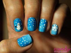 healthy breakfast ideas for kids images clip art designs for women Almond Nails French, Almond Acrylic Nails, French Nails, Holiday Nail Art, Winter Nail Art, Winter Nails, Almond Nails Designs, Nail Designs, Christmas Nails