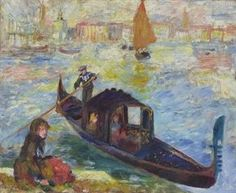Auguste Renoir - Gondola  Type of Object: Painting  Technique: oil on canvas,  Measurements: 54,6 x 66 cm,  Item used to belong to the following collections:  Max Silberberg (1878-1945).  Current owner: unknown,  Current location of an object: unknown