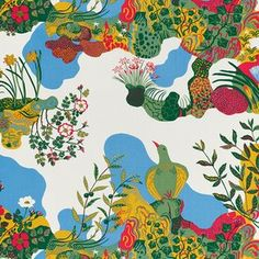 Josef Frank, Anakreon, 1938This design is based on a 3,500 year-old fresco from the palace in Knossos on Crete, discovered by Svenskt Tenn founder Estrid Ericson. It is named after the Greek poet Anacreon from 500 BC, famous for his love and drinking songs