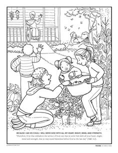 Free Printable Love And Service Coloring Page Lds