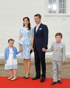 Princess Isabella attending the christening of her cousin, Princess Athena, with mum, Crown Princess Mary, dad, Crown Prince Frederik and Prince Christian.