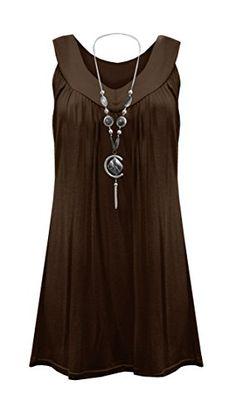 Womens Plus Size Necklace Ladies Tunic Sleeveless V Neck ... http://www.amazon.com/dp/B01ABVEKWQ/ref=cm_sw_r_pi_dp_8G7fxb04KAS6W
