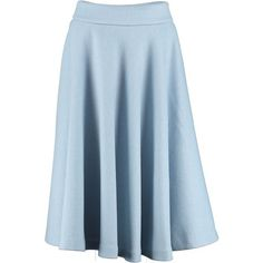 By Sun - Sky Blue Wool Skirt ($325) ❤ liked on Polyvore featuring skirts, wool skirt, blue a line skirt, knee length a line skirt, woolen skirts and a-line skirt