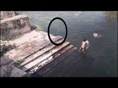 Ghost caught on Camera jumping in POND!! Ghost caught near Swimmers: Scary ghost encounters - YouTube