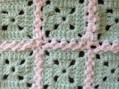 CROCHET ALONG - Attaching Granny Squares (VIDEO TUTORIAL) - Braid style join as you go