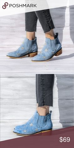 HOST PICKPremium vegan  boots Premium vegan leather booties with star details. Great with maxi dresses, jeans.... make it fun look!!! True to size. Shoes Ankle Boots & Booties