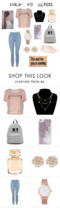 """""""Back To School"""" by adna-00 ❤ liked on Polyvore featuring ONLY, Joshua's, Skinnydip, Boucheron, River Island, Topshop, Larsson & Jennings and adidas Originals"""