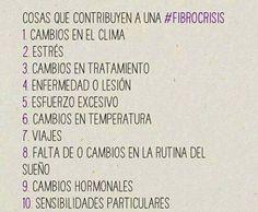 Cosas que contribuyen a una #fibrocrisis