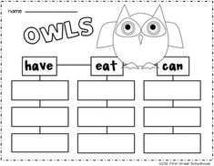 Owl printable included in I Love Autumn Literacy and Math by First Grade Schoolhouse. FIRST GRADE. $ Packet of literacy and math activities and 6 centers {3 literacy and 3 math}. A Pumpkin Scarecrow Glyph/Craftivity is included. Lots of fun graphic organizers. Includes graphics by Scrappin Doodles. http://www.scrappindoodles.com http://www.teacherspayteachers.com/Store/First-Grade-Schoolhouse