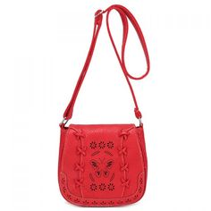 Casual Hollow Out and Solid Color Design Crossbody Bag For Women