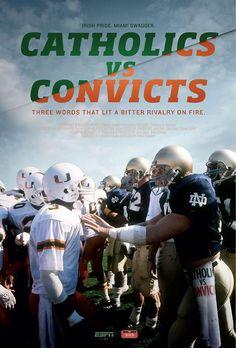 Espn Films 30 For Catholics Vs Convicts [Edizione: Stati Uniti] [Italia] [DVD] Notre Dame Football, Nd Football, Espn Baseball, College Football Players, Football Quotes, Ohio State Football, American Football, Sports Ohio, Baseball Bats