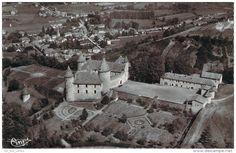 Virieu - 38 - Virieu-sur-Bourbre - Vue aérienne, Au 1er plan le Vieux Château