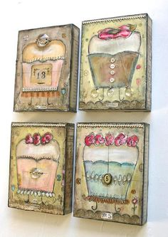 Love Lisa Kaus's mixed media art. I do have one piece but not my favorites. I do love several of her combinations and themes.