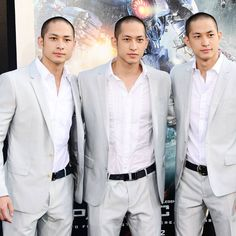 Luu Triplets. Casts of Wei Brothers, pilots of Crimson Typhoon in Pacific Rim.