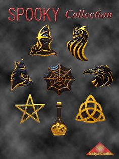 """Pendants """"Spooky Collection"""", available on Etsy : Satya Creation"""