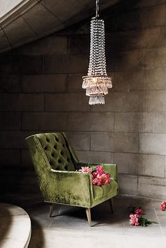 Olive greens on upholstery, walls, everywhere