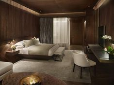 Edition hotel Istanbul.  Our dream bedroom.  Warm and has a sense of modern minimalism.