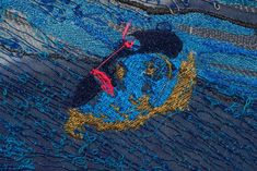 Alice Kettle : Threads 28 October 2017 – 14 January 2018 Winchester Discovery Centre Sea is the first of several planned new works which Alice is making for Thread Bearing Witness her major project… Whitworth Gallery, Modern Art, Contemporary Art, Bayeux Tapestry, V & A Museum, Large Artwork, Free Machine Embroidery, Textile Artists, Kettle