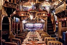 When visiting London, you must go to one of it's wacky and wonderful restaurants http://livesharetravel.com/13016/eating-in-london-six-restaurants/ Things To Do In London, Places In London, Noir Restaurant, Cabana Restaurant, Turkish Restaurant, Restaurant Design, Restaurant Interiors, Restaurant Ideas, London Today