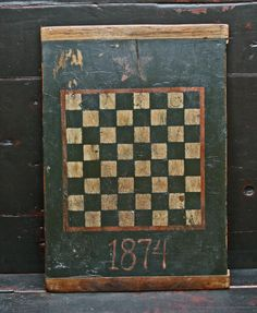 I already have an old checkerboard and it's a great graphic. I also use mine as a tray.