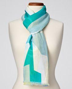 Cotton/Silk Colorful Deck Scarf