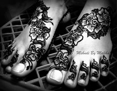 Arabic Feet mehndi