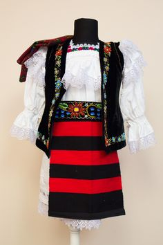 Costum popular – Maramureș Folk Costume, Costumes, Traditional Outfits, Romania, Cross Stitch, Faces, Blouse, Clothing, Shopping