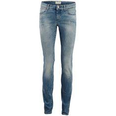 Selected Sfroberta - Low Waist Slim Fit Jeans ($115) via Polyvore