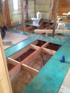 Rotten And Damaged Floor Sheeting Removed Blocking Is Added Between Floor Joists To Stiffen And Strengthen The Floor Flooring Old House Renovations