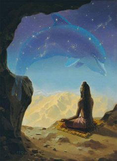 Connecting with the Energy of Sirius.  Dolphin Energy is Siriun Energy.  They are a highly evolved soul group here to assist in many unseen ways with our ascension. They are so deserving of our respect and reverence ❤
