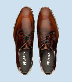 Prada men's dress #shoes #menswear. Ain't nothing like a good smelling well groomed pretty white teeth man BUT if his shoes ain't in check that totally throws off everything.
