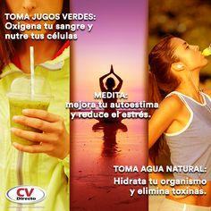 Te compartimos un par de hábitos que puedes empezar a practicar para sentirte siempre bien.  Toma jugos verdes, medita, toma agua natural.