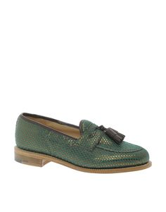 Made In England for ASOS Loafers in Brocade